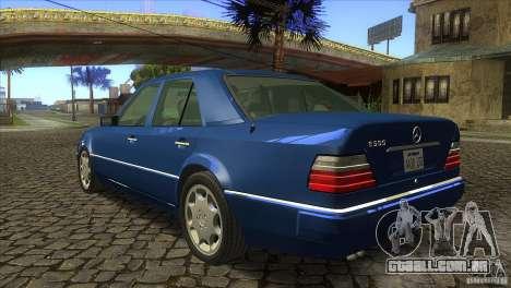 Mersedes-Benz E500 para GTA San Andreas vista traseira