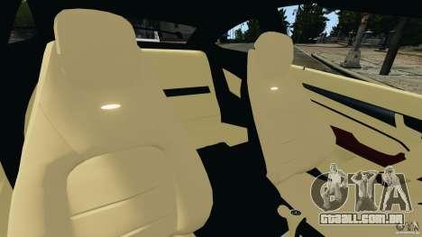 Mercedes-Benz C63 AMG 2012 para GTA 4 vista interior