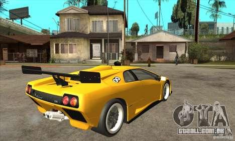 Lamborghini Diablo GT-R 1999 para GTA San Andreas vista direita