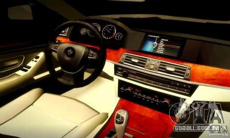 BMW 550i F10 para GTA San Andreas vista traseira