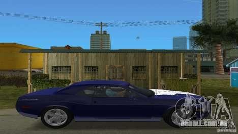 Dodge Challenger para GTA Vice City vista direita