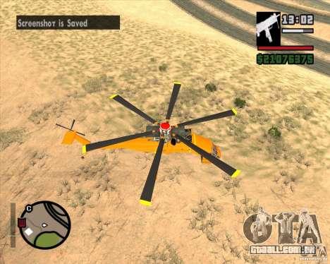 Skylift para GTA San Andreas traseira esquerda vista