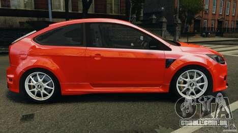 Ford Focus RS para GTA 4 esquerda vista