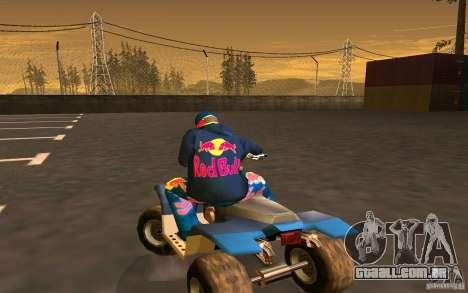 Red Bull Clothes v1.0 para GTA San Andreas nono tela