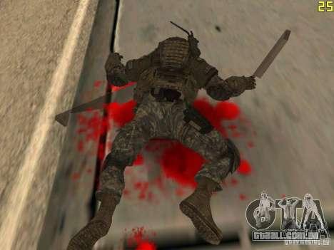 Combate de soldados de CoD: Mw2 para GTA San Andreas quinto tela