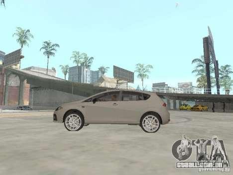 Seat Leon Cupra para GTA San Andreas esquerda vista