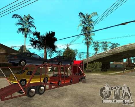 Caminhão semi-reboque para vista lateral GTA San Andreas