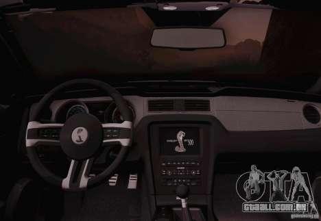 Ford Shelby GT500 2013 para GTA San Andreas vista direita