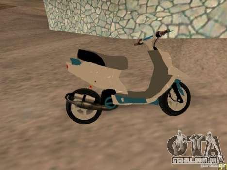 MBK Booster para GTA San Andreas traseira esquerda vista