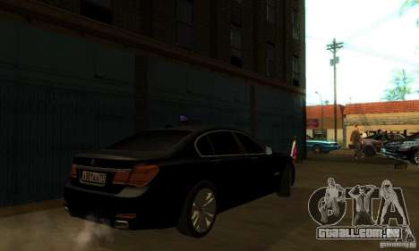 BMW 750Li para GTA San Andreas vista superior