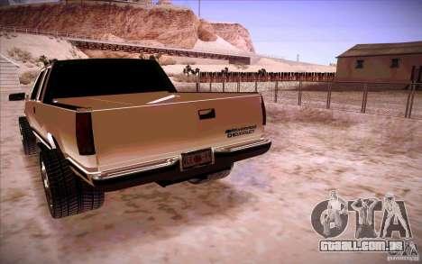 Chevrolet Silverado 3500 para GTA San Andreas traseira esquerda vista