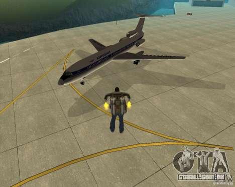 Transporte aéreo de Pak para GTA San Andreas esquerda vista
