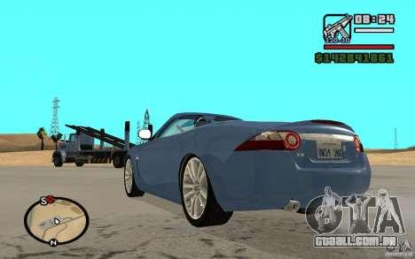 Jaguar XK Convertable para GTA San Andreas esquerda vista