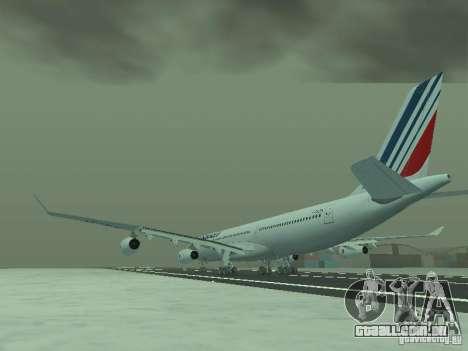 Airbus A340-300 Air France para GTA San Andreas traseira esquerda vista