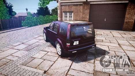 Land Rover Discovery 4 2011 para GTA 4 traseira esquerda vista