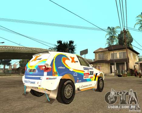 BMW X3CC X-Raid para GTA San Andreas vista direita