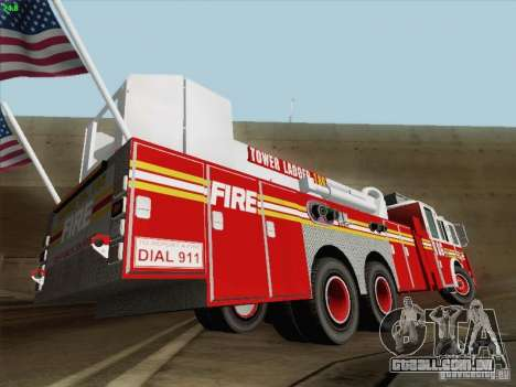 Seagrave Marauder. F.D.N.Y. Tower Ladder 186 para o motor de GTA San Andreas