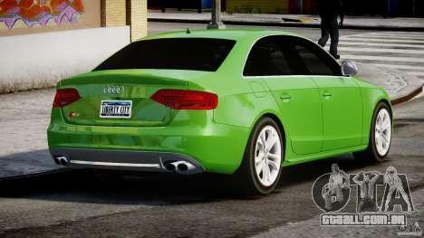 Audi S4 2010 v1.0 para GTA 4 vista lateral