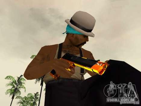 Black and Yellow weapons para GTA San Andreas