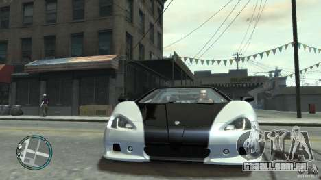 Shelby Super Cars Ultimate Aero para GTA 4 traseira esquerda vista