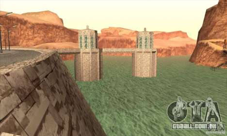 A nova barragem para GTA San Andreas quinto tela