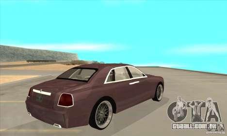 Rolls-Royce Ghost 2010 para GTA San Andreas vista direita