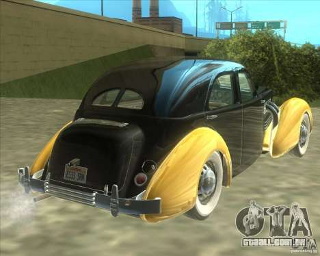 1937 Cord 812 Charged Beverly Sedan para GTA San Andreas vista direita