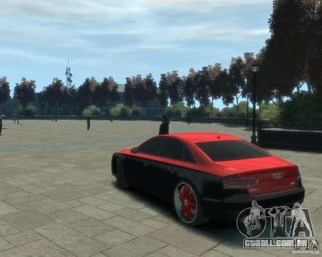 Audi A8 tuning para GTA 4 esquerda vista