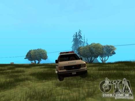 Ford E-150 NYPD Police para GTA San Andreas vista traseira