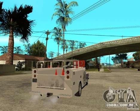 Ford F150 1992 Utility Van para GTA San Andreas traseira esquerda vista