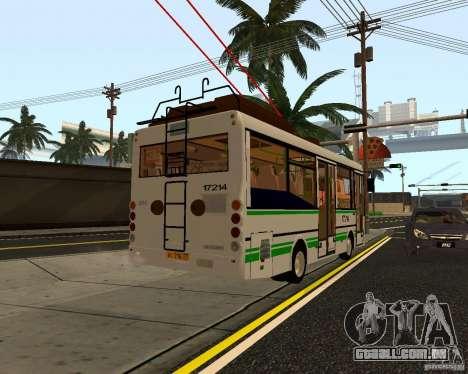 SULCO MTRZ 3237 para GTA San Andreas traseira esquerda vista
