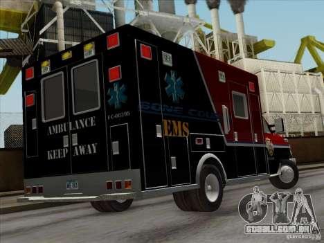 Ford E-350 AMR. Bone County Ambulance para vista lateral GTA San Andreas
