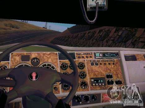 Kenworth W900 para GTA San Andreas vista traseira