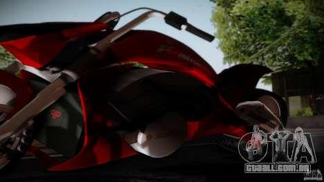Predator Superbike para GTA San Andreas traseira esquerda vista