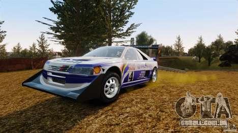 Peugeot 405 T16 Pikes Peak para GTA 4 vista de volta