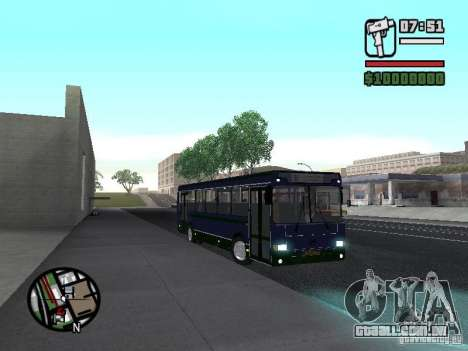 LIAZ 5256.25-II para GTA San Andreas vista interior