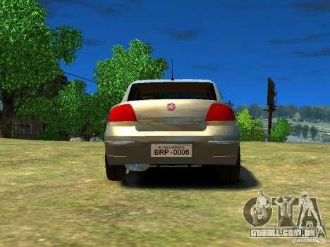 Fiat Linea para GTA 4 traseira esquerda vista