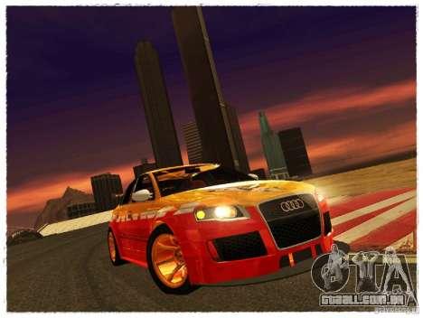 Audi RS4 Calibri-Ace para GTA San Andreas traseira esquerda vista