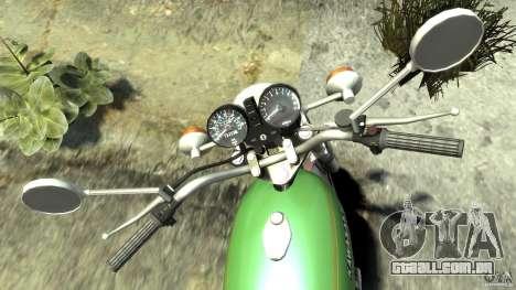 Kawasaki Z1000A1 para GTA 4 vista de volta