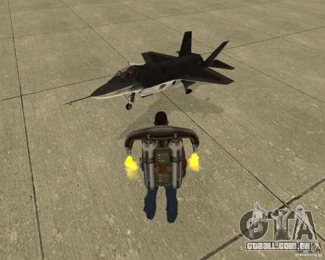 Transporte aéreo de Pak para GTA San Andreas vista superior