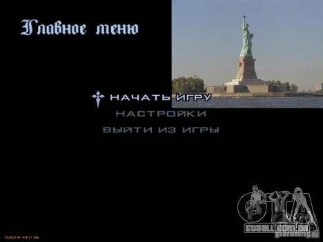 Novo menu no estilo de Nova Iorque para GTA San Andreas