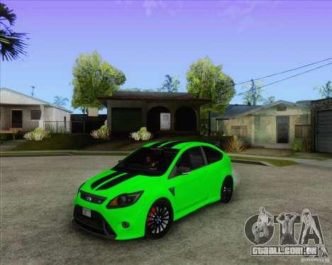 Ford Focus RS para GTA San Andreas vista interior