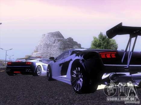 Lamborghini Gallardo Racing Street para GTA San Andreas vista direita