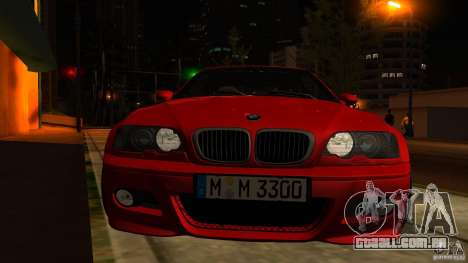 BMW M3 e46 para GTA San Andreas vista superior