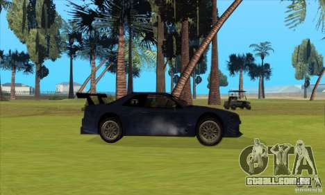 Nissan Skyline R34 GT-R LM para GTA San Andreas vista inferior