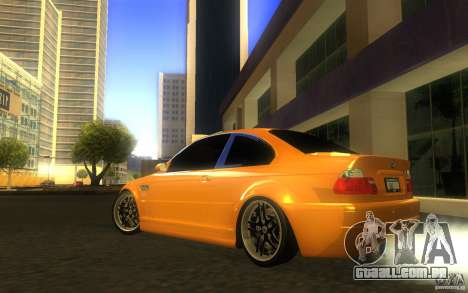BMW M3 E46 V.I.P para GTA San Andreas vista superior