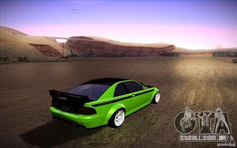 GTA IV Sultan RS para GTA San Andreas esquerda vista