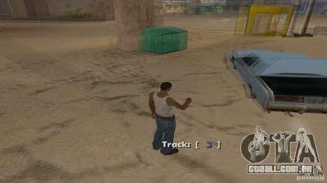 Music car v4 para GTA San Andreas por diante tela