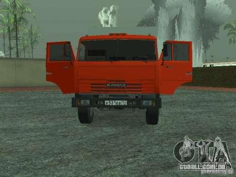 Caminhão de lixo 53215 KAMAZ para GTA San Andreas vista traseira