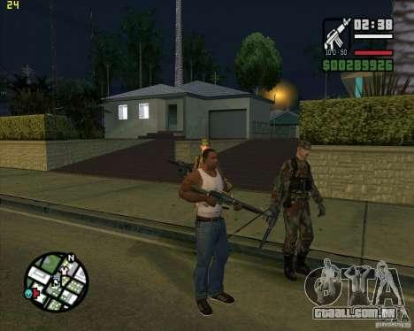 Atirando armas para GTA San Andreas